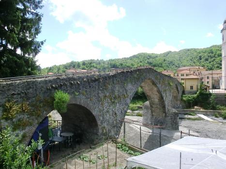 Medieval bridge over the Scrivia