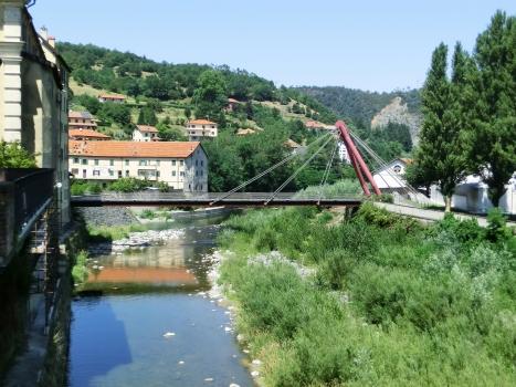 Stura cable-stayed footbridge