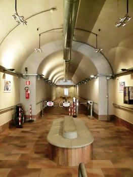 Santa Caterina del Sasso Elevator access tunnel