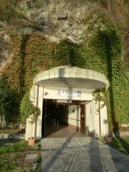 Santa Caterina del Sasso Elevator lower access