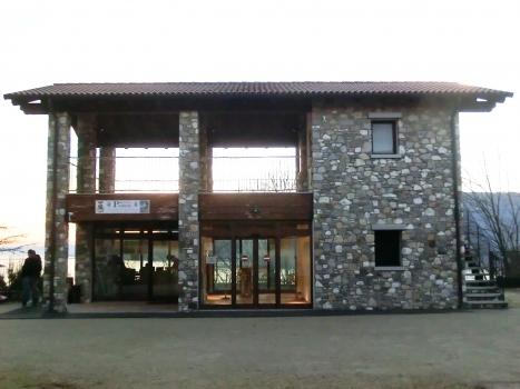 Santa Caterina del Sasso Elevator upper access and infocenter