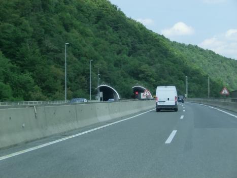 Golo Rebro Tunnel southern portals