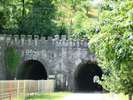 Kostanjevica I (on the left) and II Tunnel northern portals