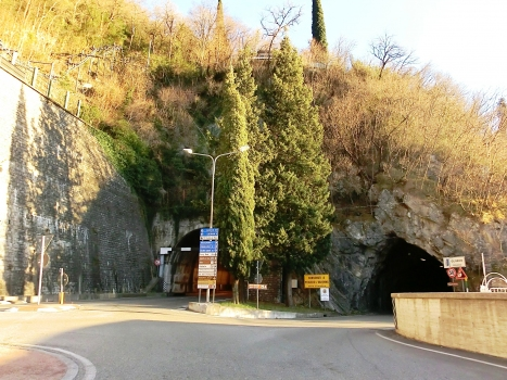 Regolo Tunnel (on the left) and Olivedo Tunnel northern portals from new roundabout