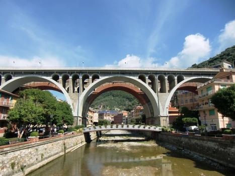 Pont sur le torrent de Sori, Pont ferroviaire sur le Sori
