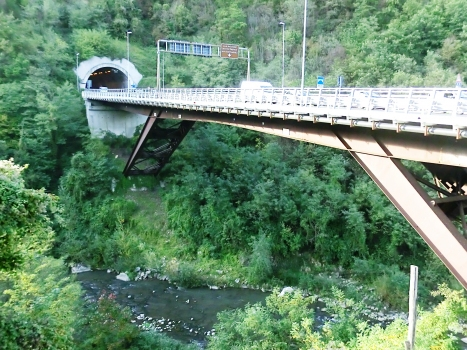 Serchio Bridge and Le Lame Tunnel south-eastern portal