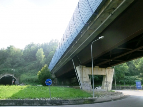 Cà Bianca Viaduct and Montenegrone Tunnel northern ramp portal