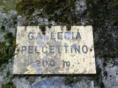 Pelcettino Tunnel northern portal plate