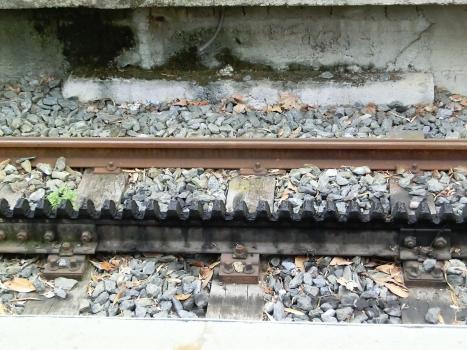 Sassi–Superga tramway, rack system detail