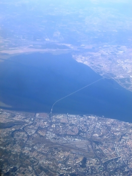 Vasco da Gama Bridge aerial view