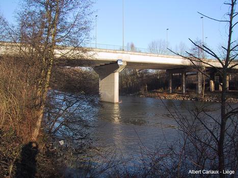 Ourthebrücke in Lüttich, Belgien