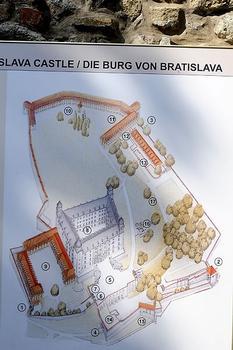 Burg Bratislava Stand der Restaurierungsarbeiten im August 2008