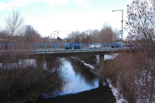 Pont sur le canal du Marchfeld de la Einzingergasse, Vienne