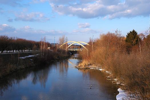 Pont sur le canal du Marchfeld de la Strebersdorfer Strasse, Vienne