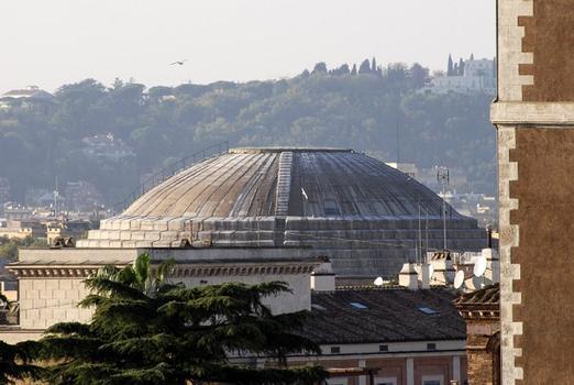 Pantheon, gesehen vom Denkmal für Vittorio Emanuele
