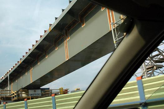 Construction of the bridge of the U 2 Metro line crossing the A 23 motorway in Vienna