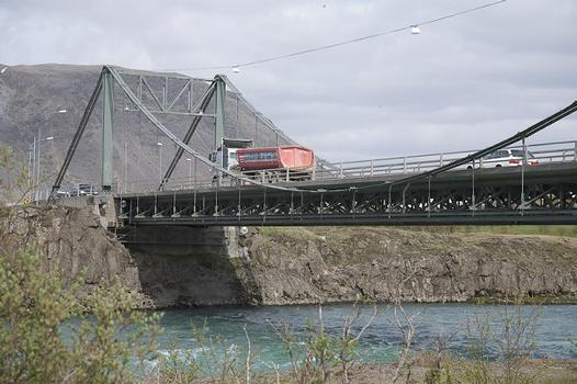 Hängebrücke in Selfoss