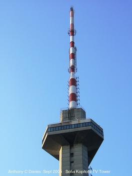 Kopitoto TV Tower, Sofia, Bulgaria.