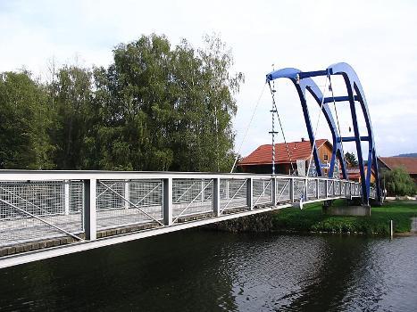 Fuß- und Radwegbrücke am Floßhafen, Cham.