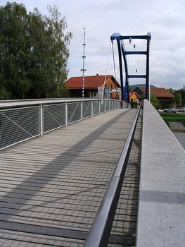 Fuß- und Radwegbrücke am Floßhafen, Cham
