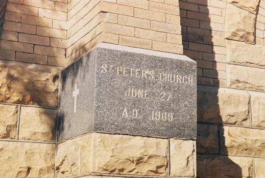 Saint Peter's Catholic Church - Cornerstone