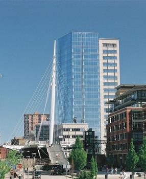Denver Millennium Footbridge (Left) 1900 16th Street (Right)