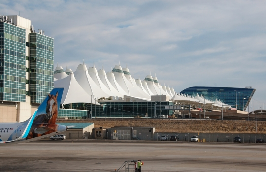 Passagierterminal des Denver International Airport