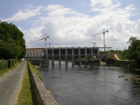 Barrage et usine hydro-électrique de Tuilière - état des travaux en juillet 2008