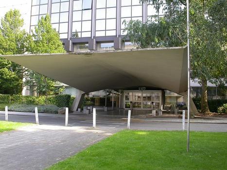 Vordach des Soziologischen Instituts der Freien Universität Brüssel