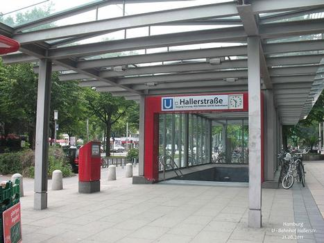 Hamburg, U-Bahnhof Hallerstraße