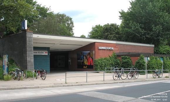 Hamburg U-Bahnhof Hammer Kirche