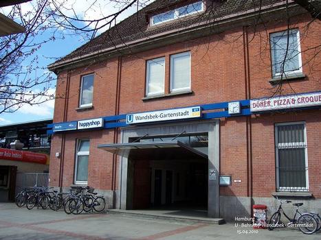 U-Bahnhof Wandsbek-Gartenstadt in Hamburg