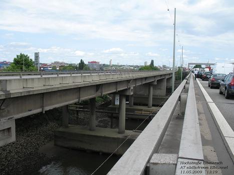 Elbmarsch-Hochbrücke, A 7 südlich vom Elbtunnel