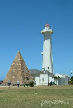 Port Elizabeth - pyramide et phare de la réserve de Donkin
