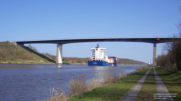 Canal de Kiel – Autoroute A 23 (Allemagne) – Autobahnhochbrücke Hohenhörn