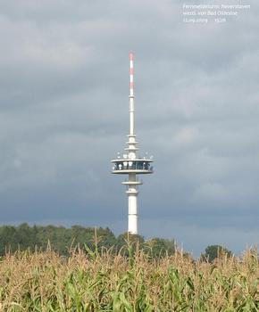 Fernmeldeturm Neverstaven westlich von Bad Oldesloe