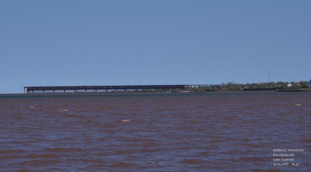 Ore Docks am Lake Superior in Ashland / Wisconsin