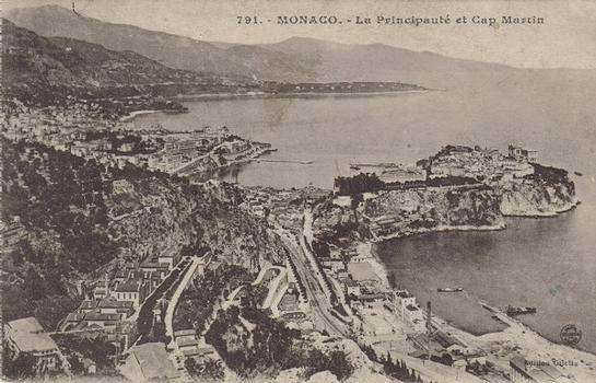 Début du premier aménagement de Fontvieille.Principauté de Monaco