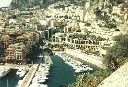 The Fontiveille section of Monaco built entirely on a 22 hectare landfill including a port