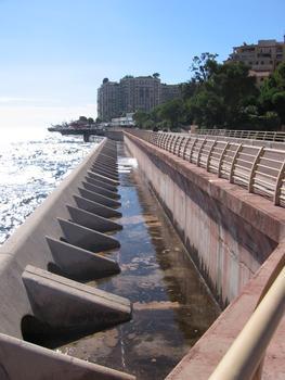 La digue et les brises-lame de FontvieillePrincipauté de Monaco
