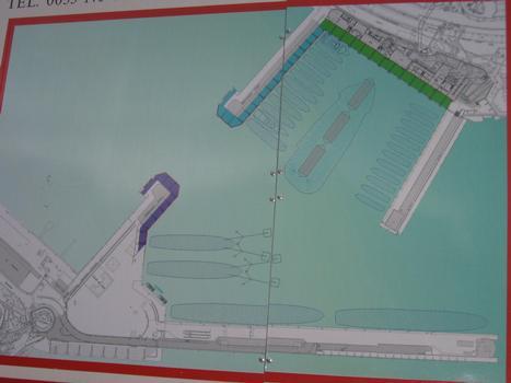 Erweiterung des Hafens La Condamine in Monaco - Schema