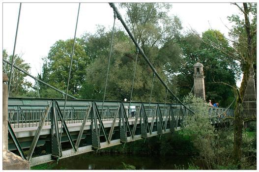 Hängebrücke in Langenargen / Bodensee.