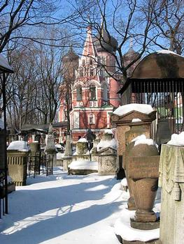 Donskoy Monastery founded in 1591, Moscow part of Monastery: Church of Our Lady of Don (Small) 1591-93