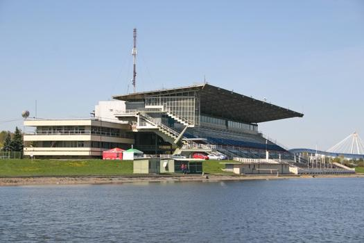 Rowing canal in Krilatskoye completed in 1973 (arch. V. Kuzmin, V. Kolesnik, I. Rozhin) and used in Moscow's Olympic Games of 1980