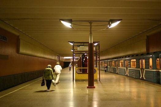 Volzhskaya metro station in Moscow