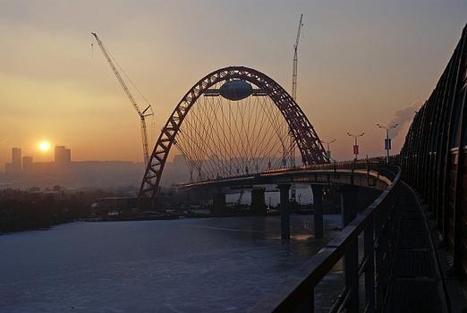 Pont de Serebriani Bor à Moscou