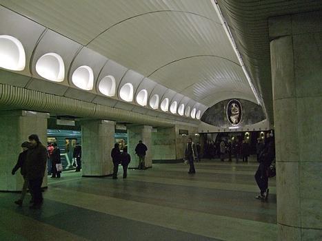 Rimskaya metro station, Moscow, Russia