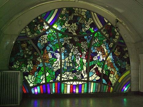 Metrobahnhof Zwetnoi Bulwar, Moskau