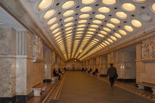 Elektrozavodskaya Metro Station 1944 arch. Vladimir Georgievich Gelfreih, Rozhin E.