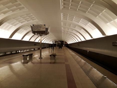 Mitino metro station open 2009 Filyovskaya Line 55.846080, 37.361047